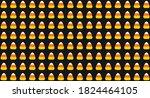 halloween pattern vector...   Shutterstock .eps vector #1824464105