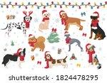 Dog Characters In Santa Hats...