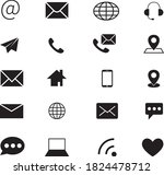 contact us social web icons...   Shutterstock .eps vector #1824478712