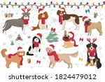 Dog Characters In Santa Hats...