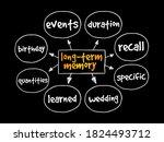long term memory mind map ... | Shutterstock .eps vector #1824493712