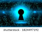 keyhole on the background... | Shutterstock .eps vector #1824497192