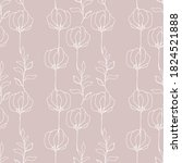 floral seamless pattern with... | Shutterstock .eps vector #1824521888