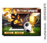 betting sport game creative... | Shutterstock .eps vector #1824531875