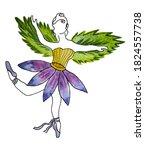 Bright Watercolor Illustration...