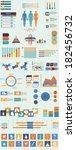 vector set of infographic...   Shutterstock .eps vector #182456732