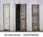 Three Old Wooden Doors  One Of...