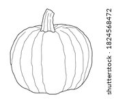 pumpkin transparent vector... | Shutterstock .eps vector #1824568472
