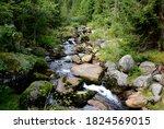 Crossing A Mountain Stream...