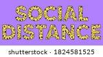happy cartoon letters social...   Shutterstock .eps vector #1824581525