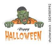 happy halloween vintage concept ... | Shutterstock .eps vector #1824585992