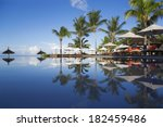 luxury hotel on the tropical... | Shutterstock . vector #182459486