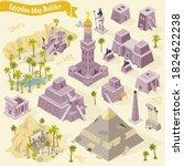 egyptian map builder isometric... | Shutterstock .eps vector #1824622238