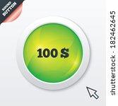 100 dollars sign icon. usd...