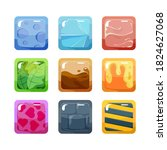 textural game buttons set....