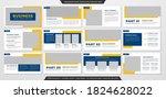 set of presentation layout... | Shutterstock .eps vector #1824628022