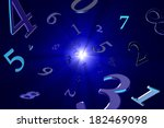 a lot of numbers on a beautiful ... | Shutterstock . vector #182469098