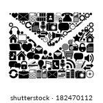 letter made from media icons | Shutterstock .eps vector #182470112