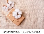 box with a gift and a sprig of... | Shutterstock . vector #1824743465