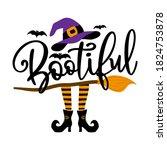 bootiful  beautiful boo   ... | Shutterstock .eps vector #1824753878