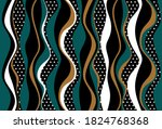 Seamless Abstract Striped Wavy...