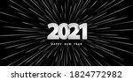 happy new year 2021. festive... | Shutterstock .eps vector #1824772982