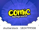pop art comic background with... | Shutterstock .eps vector #1824799508