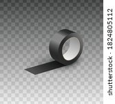realistic black sticky tape...   Shutterstock .eps vector #1824805112