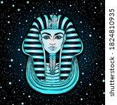 king tutankhamun mask  ancient... | Shutterstock .eps vector #1824810935