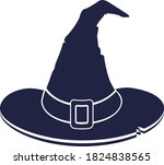 witch hat symbol of halloween... | Shutterstock .eps vector #1824838565