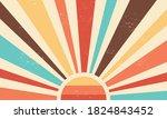 vintage sun retro banner... | Shutterstock .eps vector #1824843452