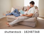 full length of a relaxed young... | Shutterstock . vector #182487368