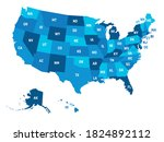 map of united states of america ... | Shutterstock .eps vector #1824892112