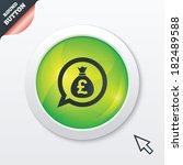 money bag sign icon. pound gbp...