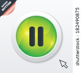 pause sign icon. player...