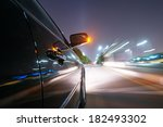 car on the road with motion... | Shutterstock . vector #182493302