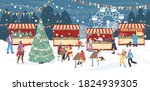 traditional winter holiday... | Shutterstock .eps vector #1824939305
