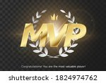 gold inscription mvp   emblem... | Shutterstock .eps vector #1824974762
