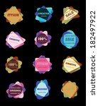 vintage hipster retro labels... | Shutterstock .eps vector #182497922