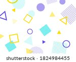 background illustration of pop... | Shutterstock . vector #1824984455