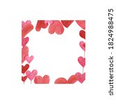 Frame Of Pink Hearts. For...