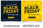 black friday event banners ... | Shutterstock .eps vector #1825001165