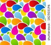 colorful retro abstract liquid... | Shutterstock . vector #182503196