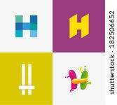 letter h | Shutterstock .eps vector #182506652