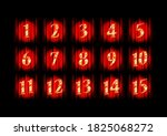 gold numbers 1 15 on the... | Shutterstock . vector #1825068272