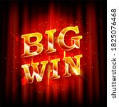 big win banner for online... | Shutterstock . vector #1825076468