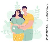 beautiful couple in... | Shutterstock .eps vector #1825079678