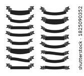 black ribbon banners set.... | Shutterstock . vector #1825090352