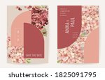 floral wedding invitation... | Shutterstock .eps vector #1825091795