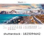 Calendar March 2021  B3 Size....